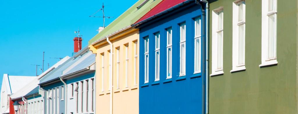 Colorful houses, Reykjavik, Iceland